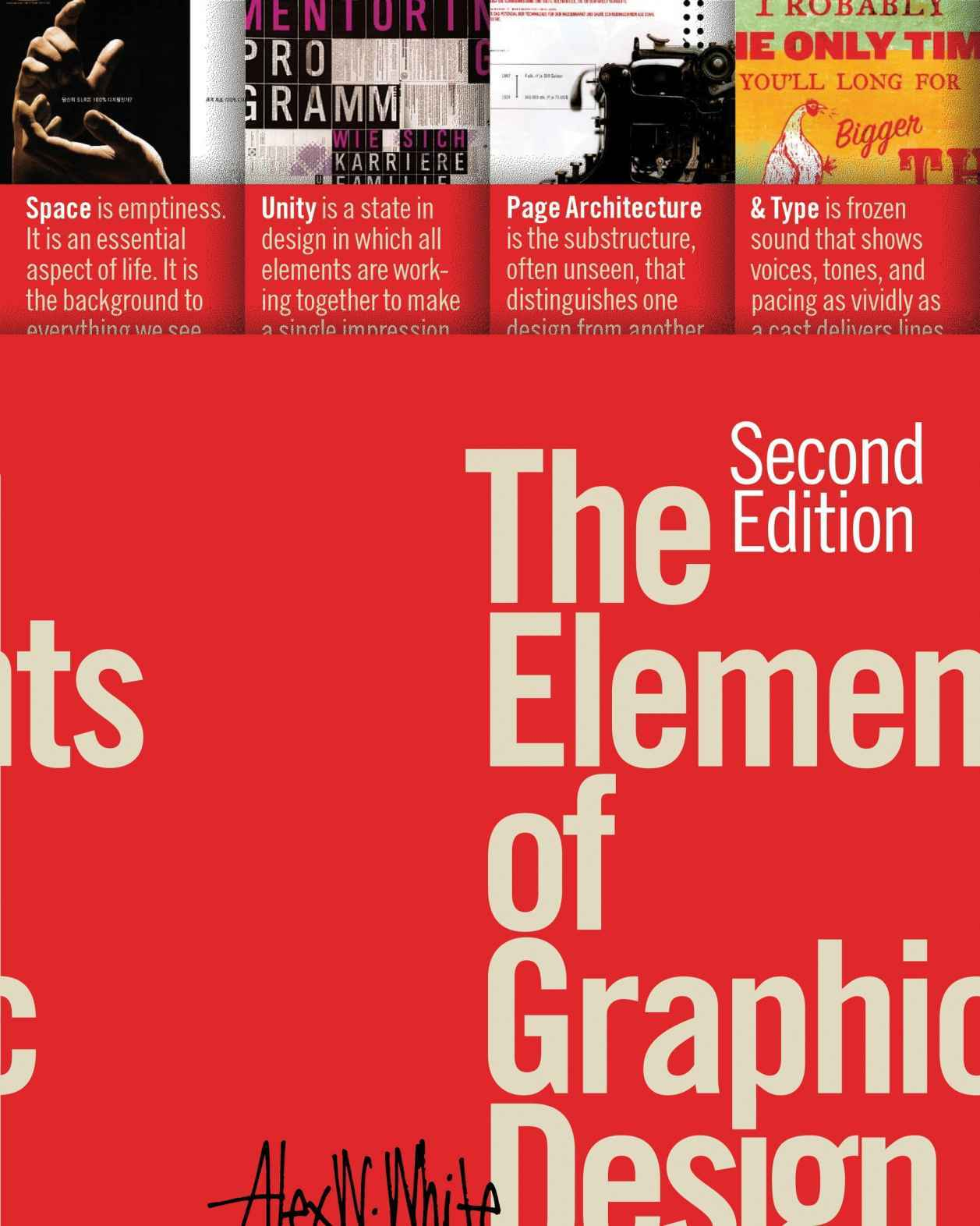 Graphic Design Book Cover Page : The elements of graphic design by alex white